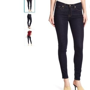 7 For All Mankind Dark Wash Skinny Jeans Size 26